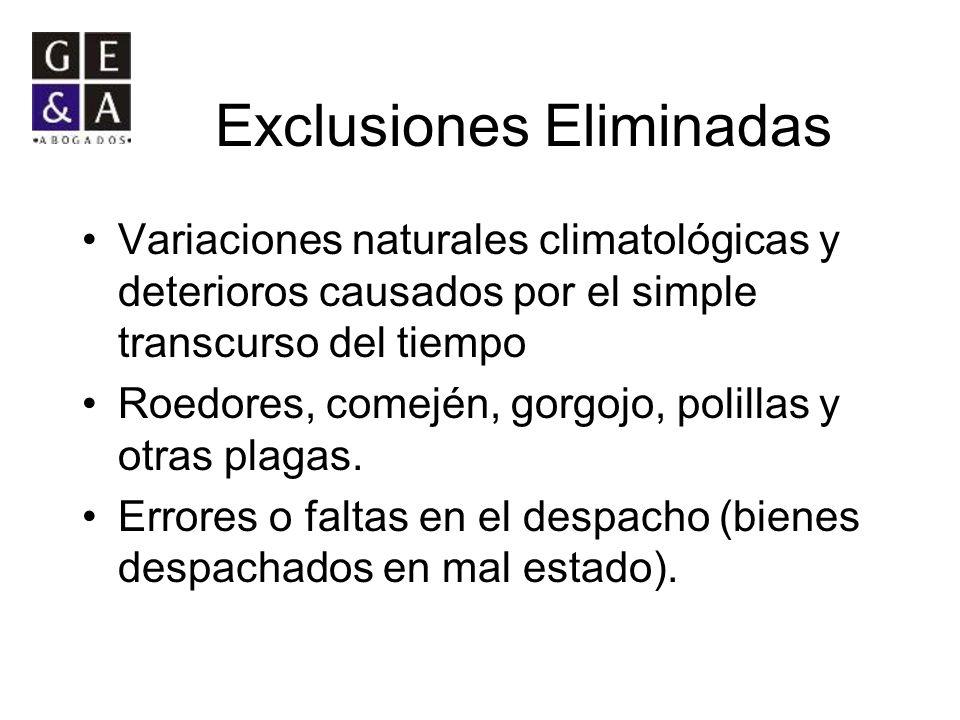 Exclusiones Eliminadas