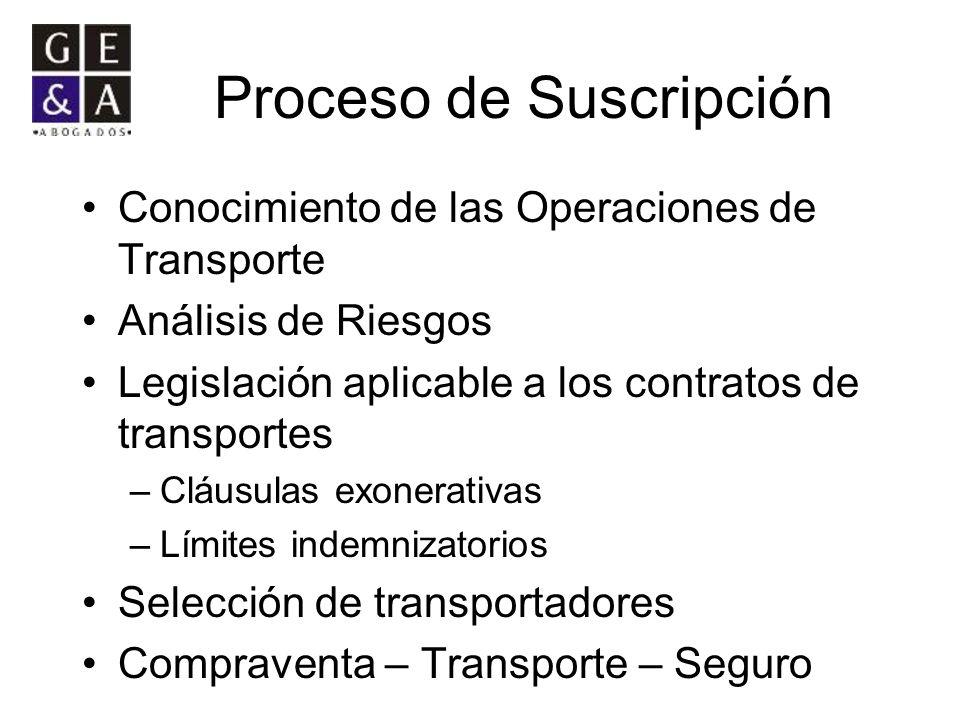 Proceso de Suscripción