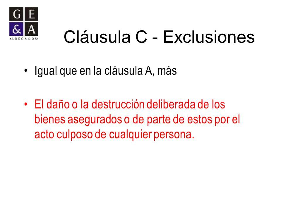 Cláusula C - Exclusiones