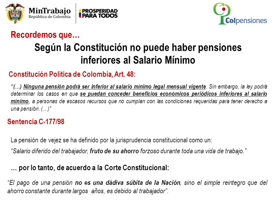 Constitución Política de Colombia, Art. 48: