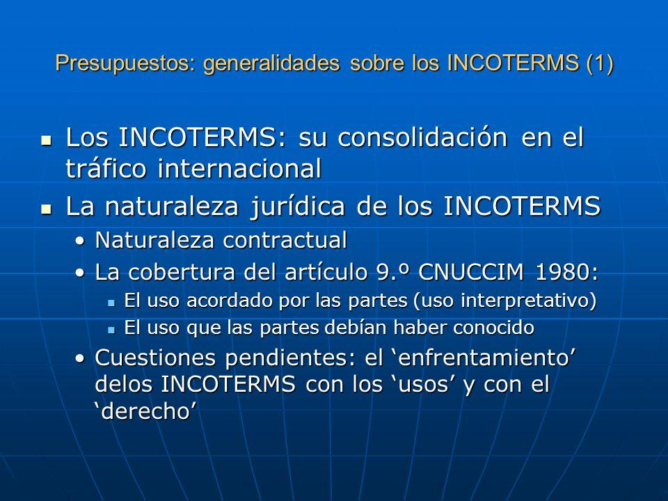 Presupuestos: generalidades sobre los INCOTERMS (1)