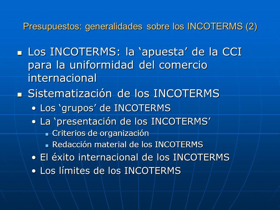 Presupuestos: generalidades sobre los INCOTERMS (2)