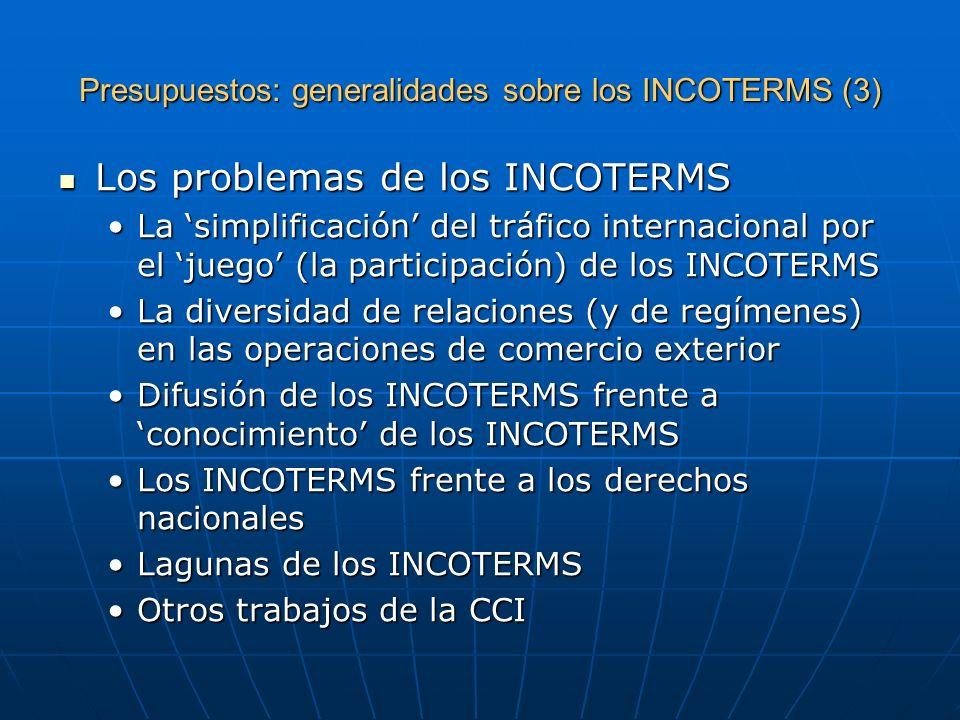 Presupuestos: generalidades sobre los INCOTERMS (3)