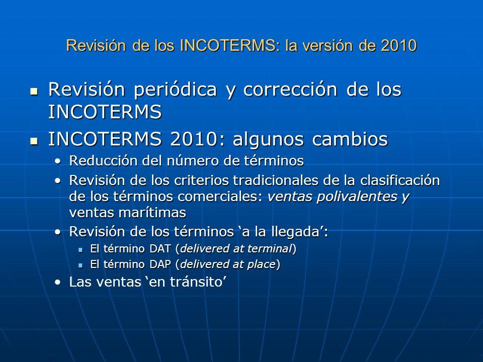 Revisión de los INCOTERMS: la versión de 2010