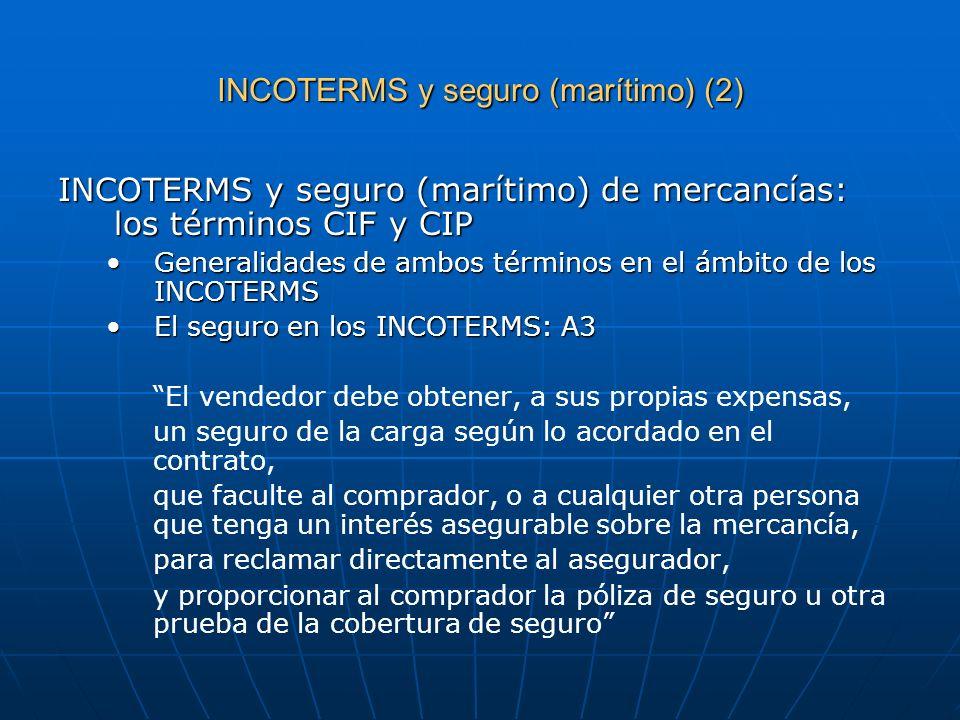 INCOTERMS y seguro (marítimo) (2)
