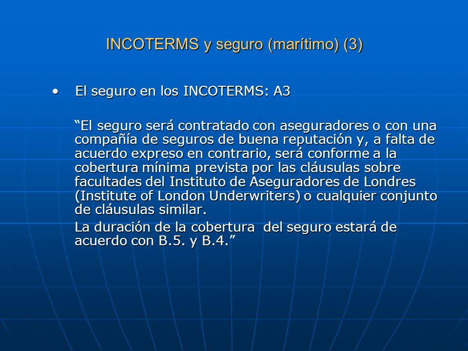 INCOTERMS y seguro (marítimo) (3)