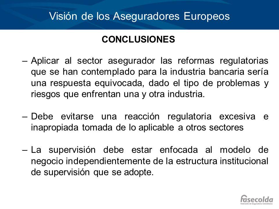 Visión de los Aseguradores Europeos