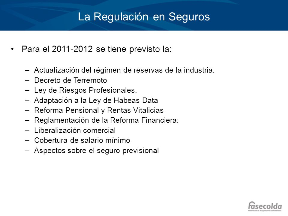 La Regulación en Seguros