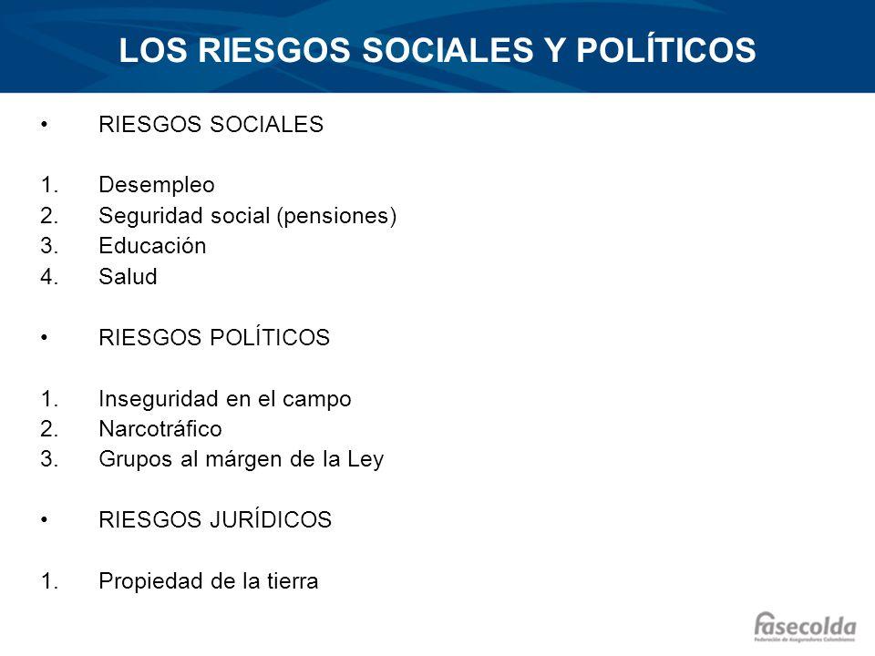 LOS RIESGOS SOCIALES Y POLÍTICOS
