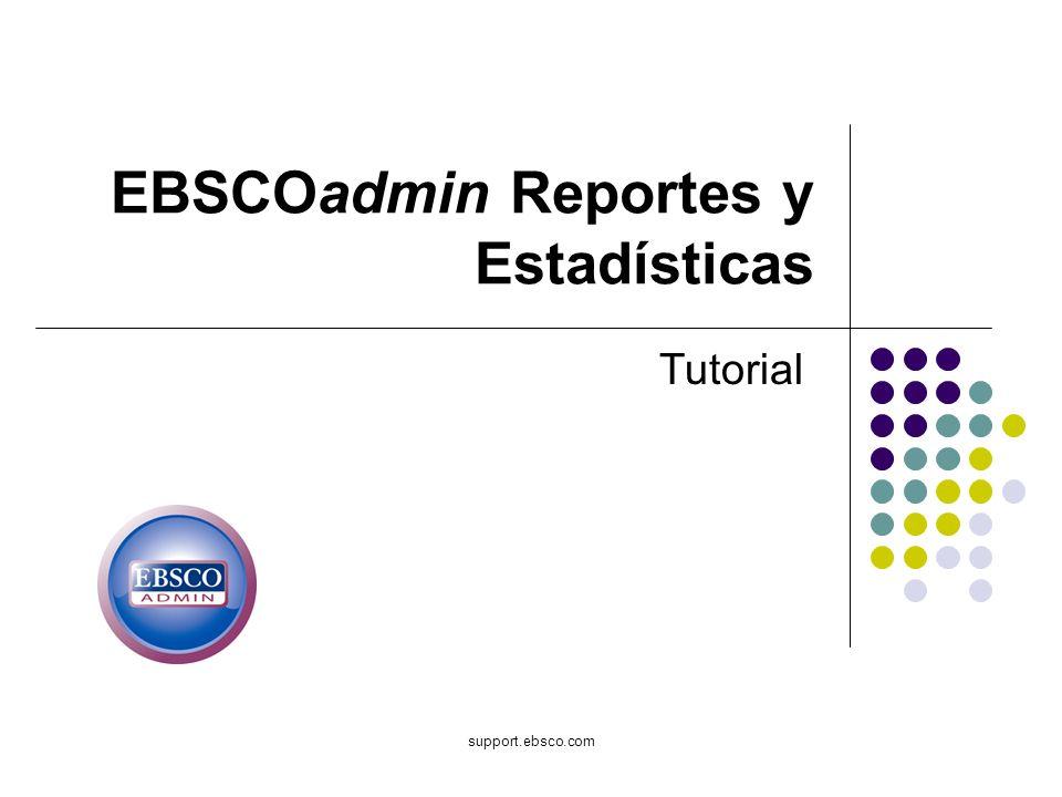 EBSCOadmin Reportes y Estadísticas