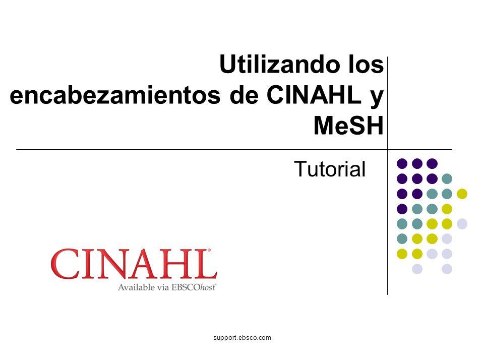 Utilizando los encabezamientos de CINAHL y MeSH