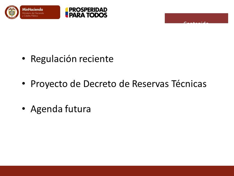 Proyecto de Decreto de Reservas Técnicas Agenda futura