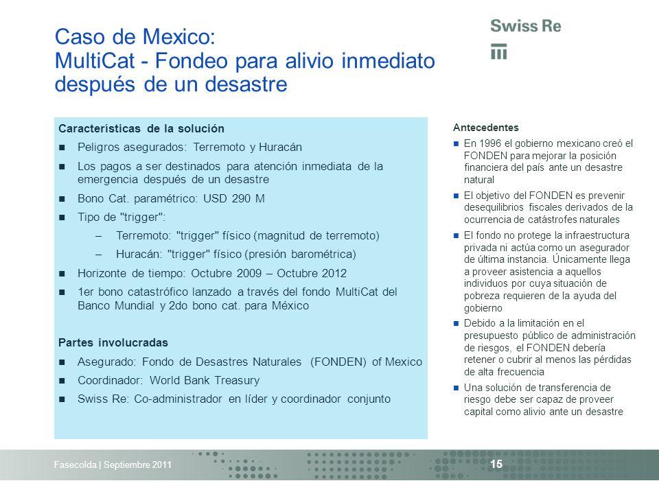 Caso de Mexico: MultiCat - Fondeo para alivio inmediato después de un desastre