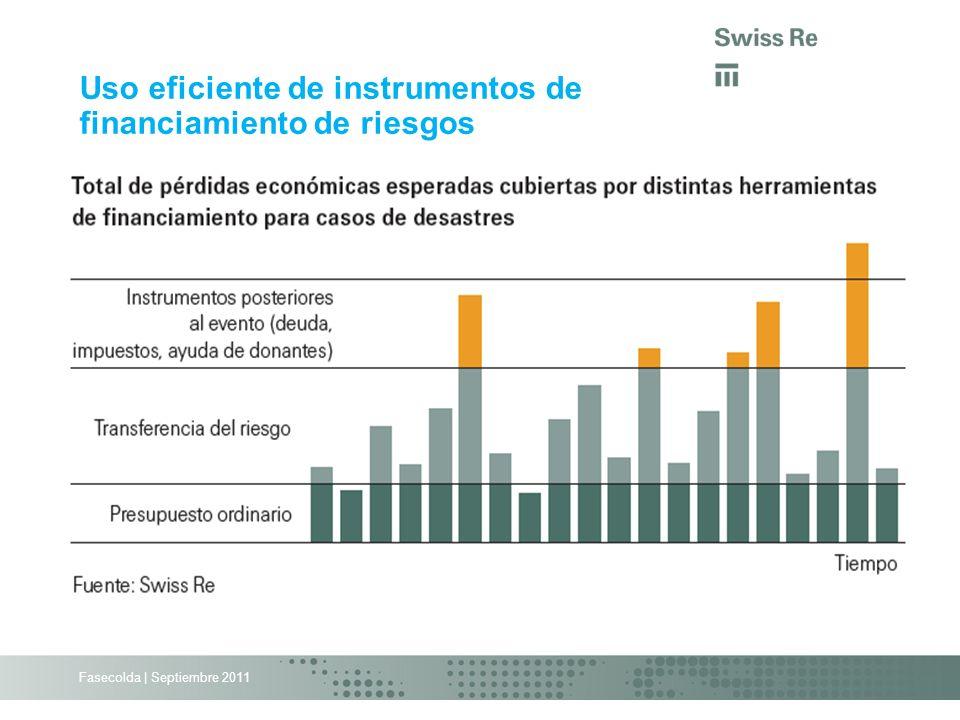 Uso eficiente de instrumentos de financiamiento de riesgos