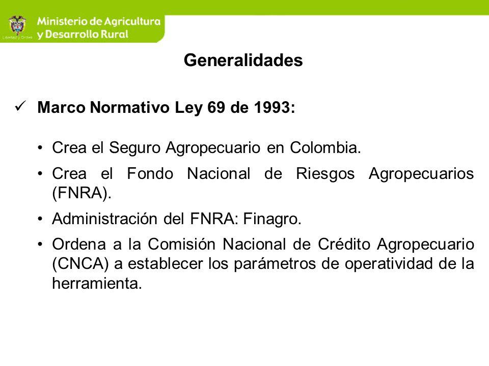 Generalidades Marco Normativo Ley 69 de 1993: