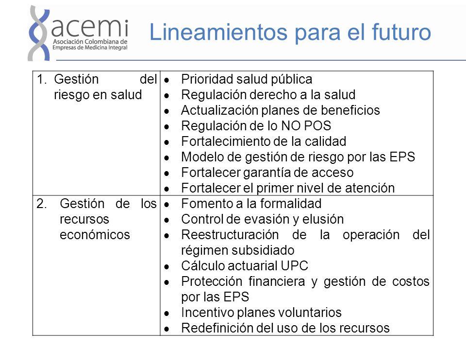 Lineamientos para el futuro