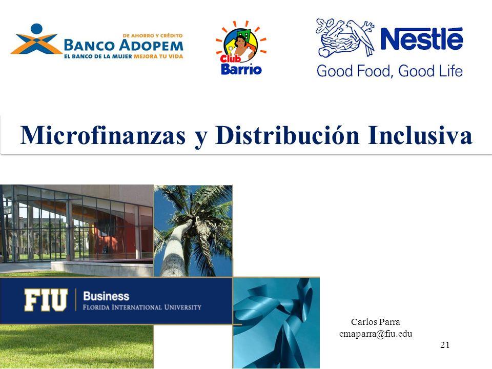 Microfinanzas y Distribución Inclusiva