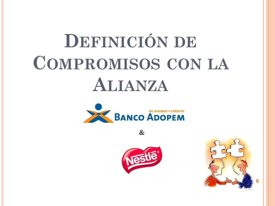 Definición de Compromisos con la Alianza