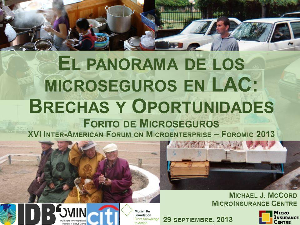 Michael J. McCord MicroInsurance Centre 29 septiembre, 2013