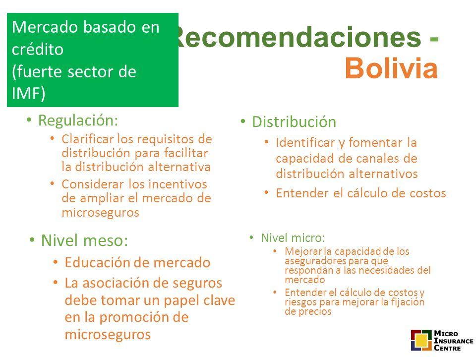 Recomendaciones - Bolivia