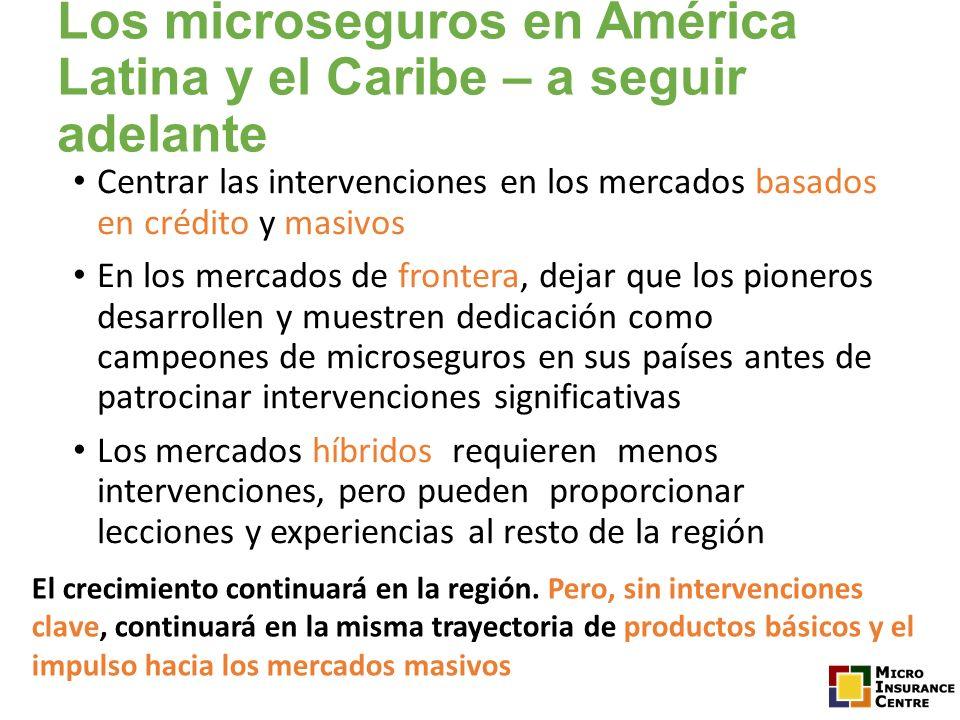 Los microseguros en América Latina y el Caribe – a seguir adelante