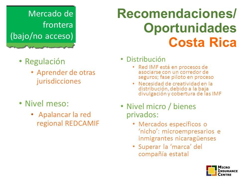 Recomendaciones/ Oportunidades Costa Rica
