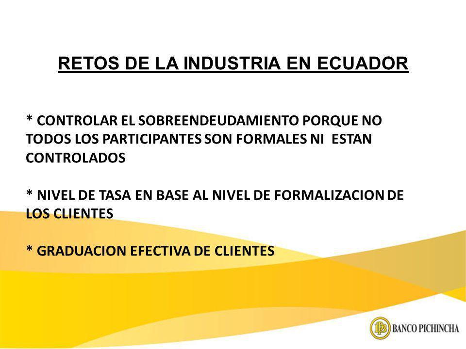 RETOS DE LA INDUSTRIA EN ECUADOR