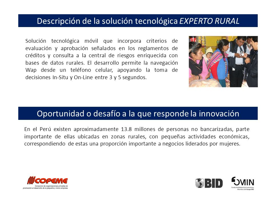 Descripción de la solución tecnológica EXPERTO RURAL