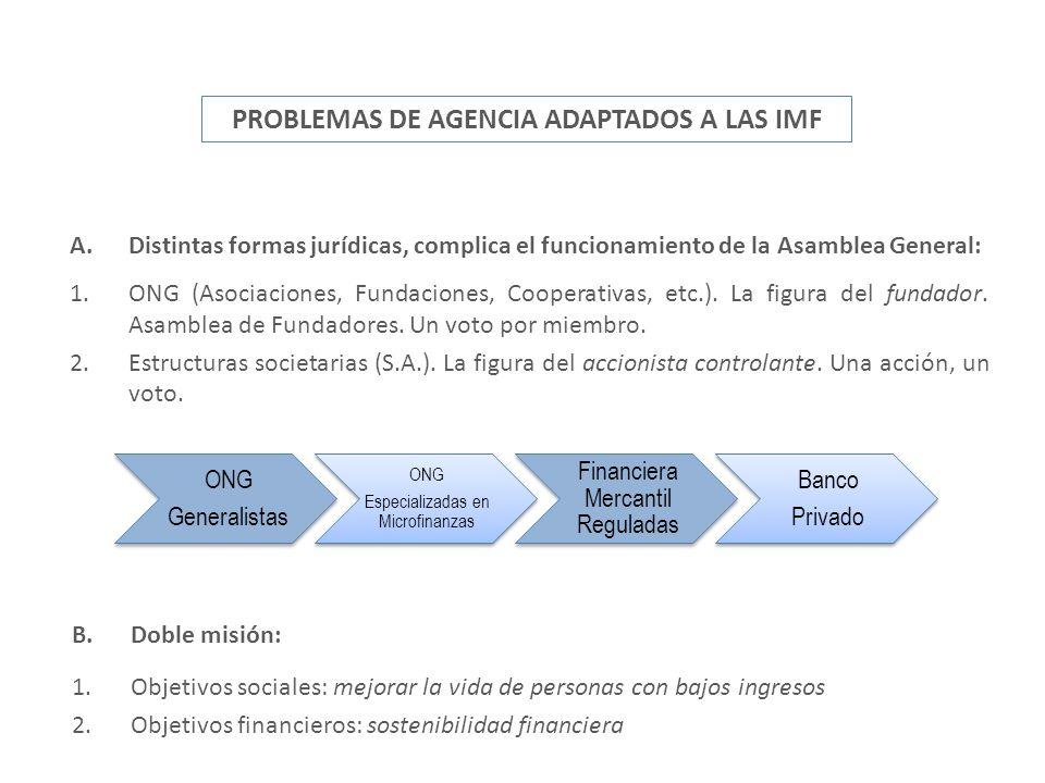 PROBLEMAS DE AGENCIA ADAPTADOS A LAS IMF