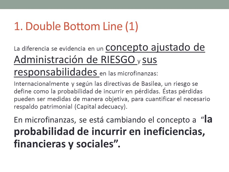 1. Double Bottom Line (1)