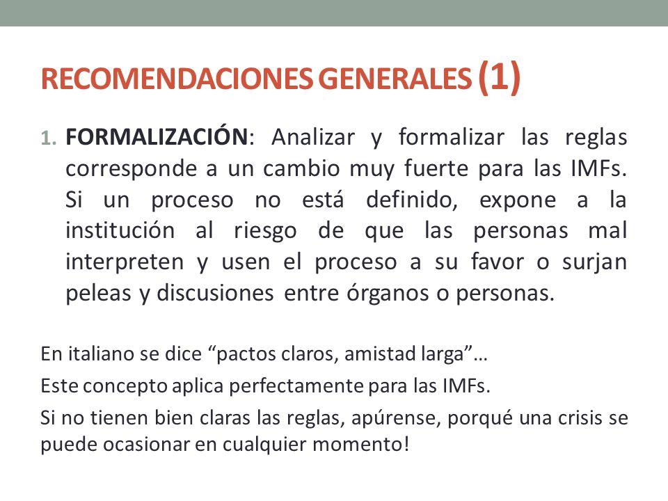 RECOMENDACIONES GENERALES (1)