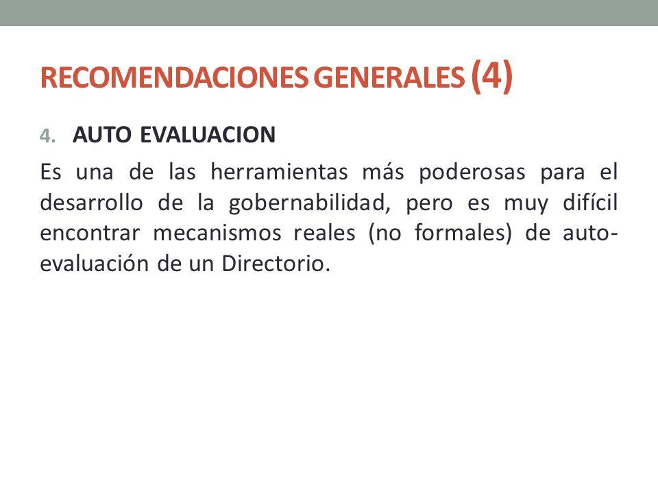 RECOMENDACIONES GENERALES (4)