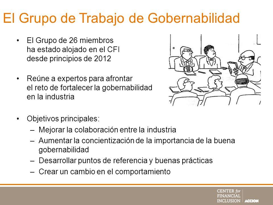 El Grupo de Trabajo de Gobernabilidad