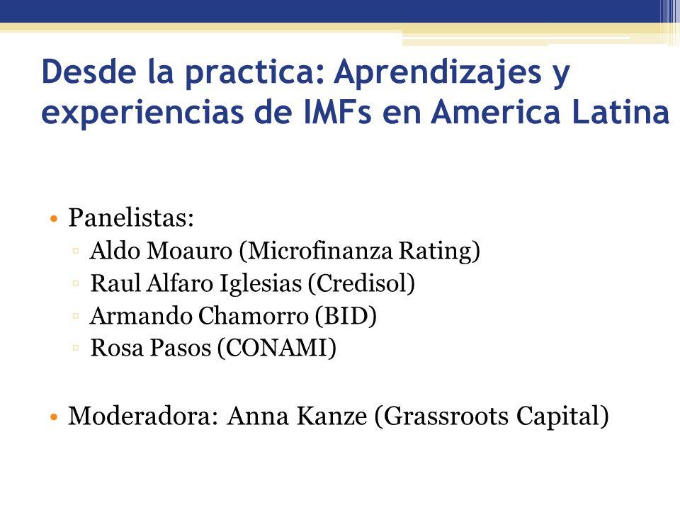Desde la practica: Aprendizajes y experiencias de IMFs en America Latina