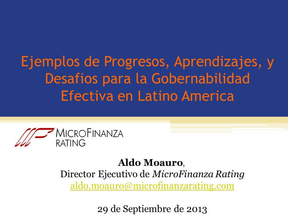 Director Ejecutivo de MicroFinanza Rating