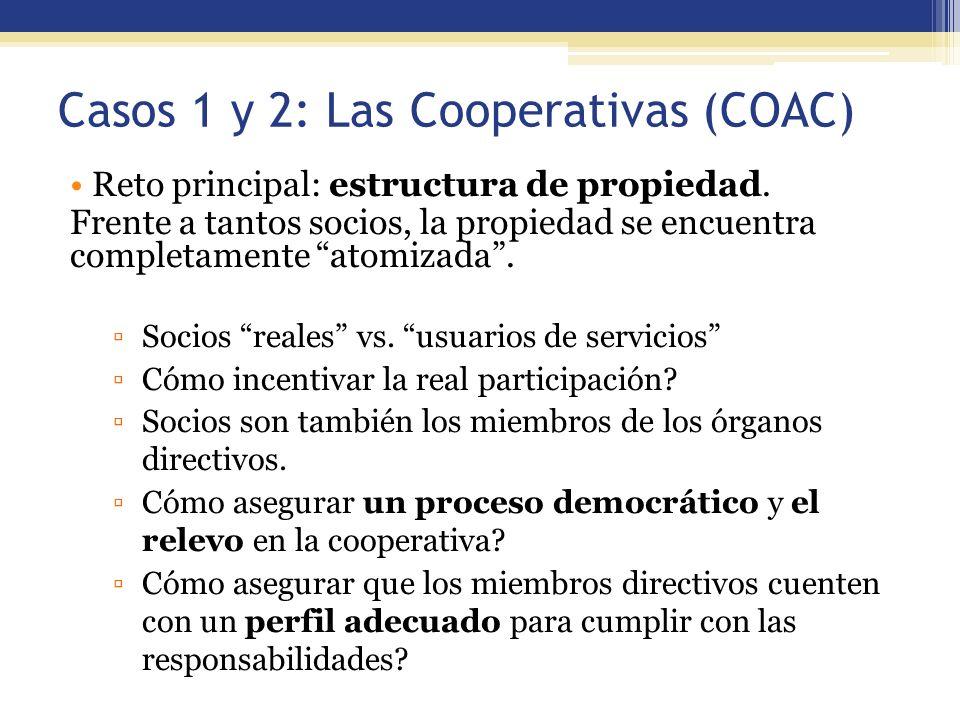 Casos 1 y 2: Las Cooperativas (COAC)