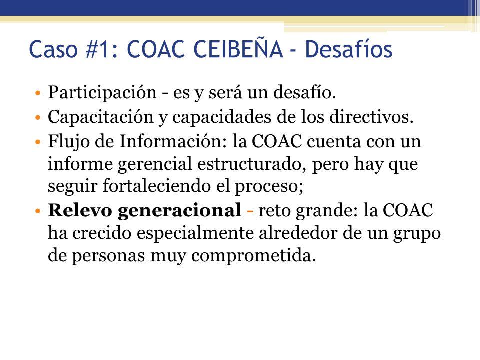 Caso #1: COAC CEIBEÑA - Desafíos