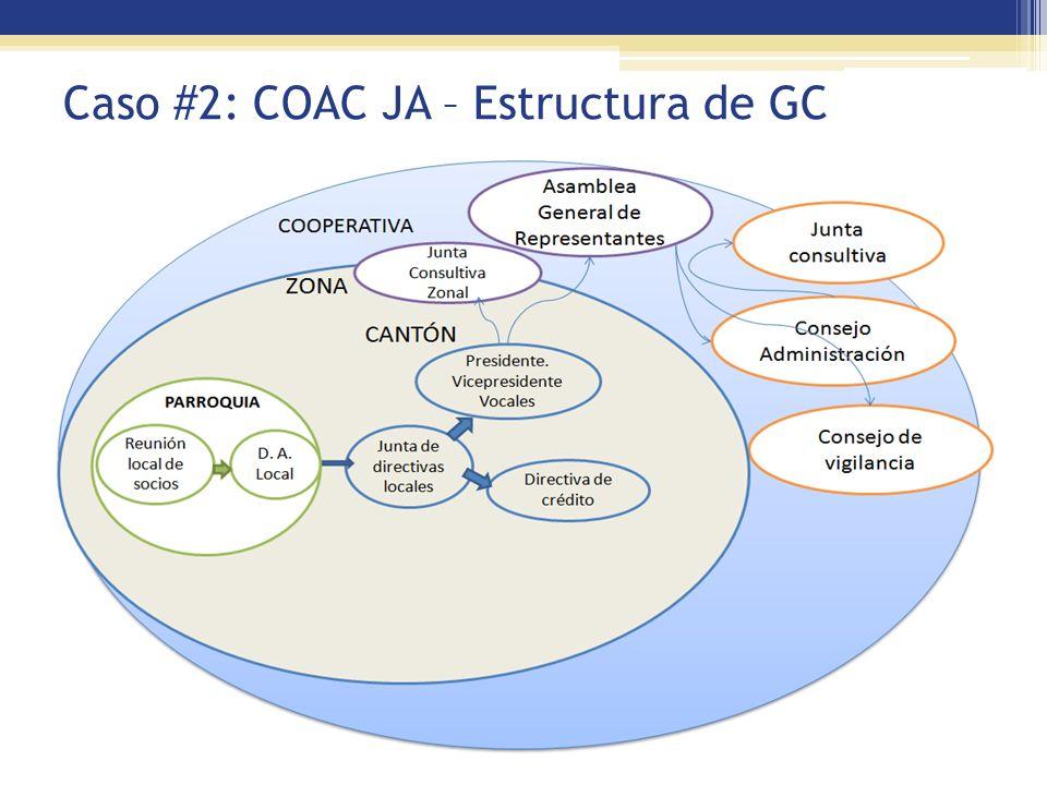 Caso #2: COAC JA – Estructura de GC