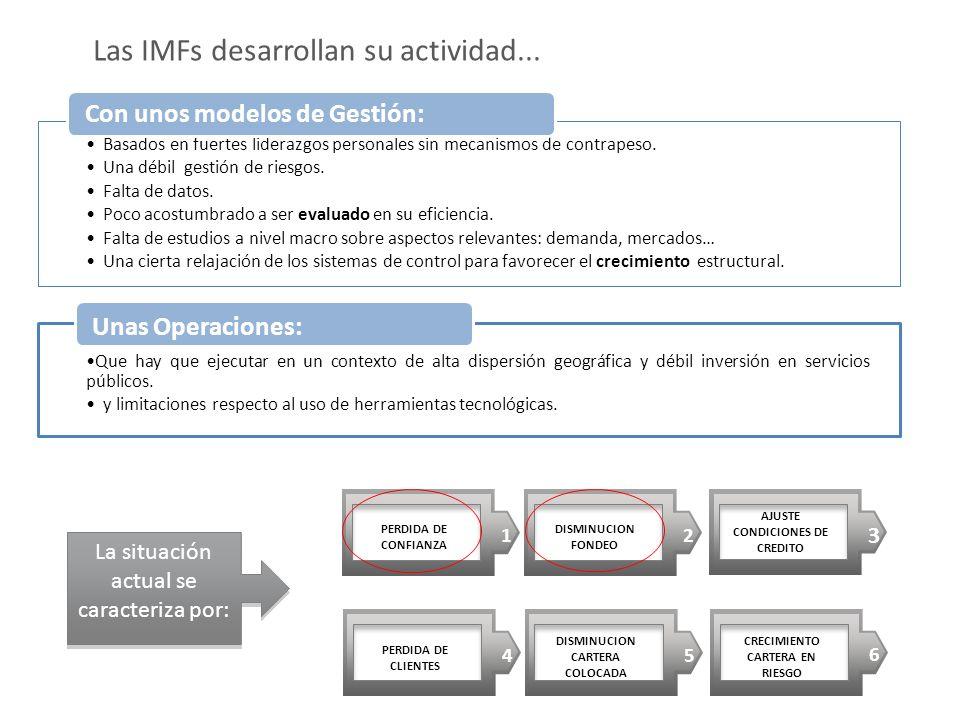 Las IMFs desarrollan su actividad...