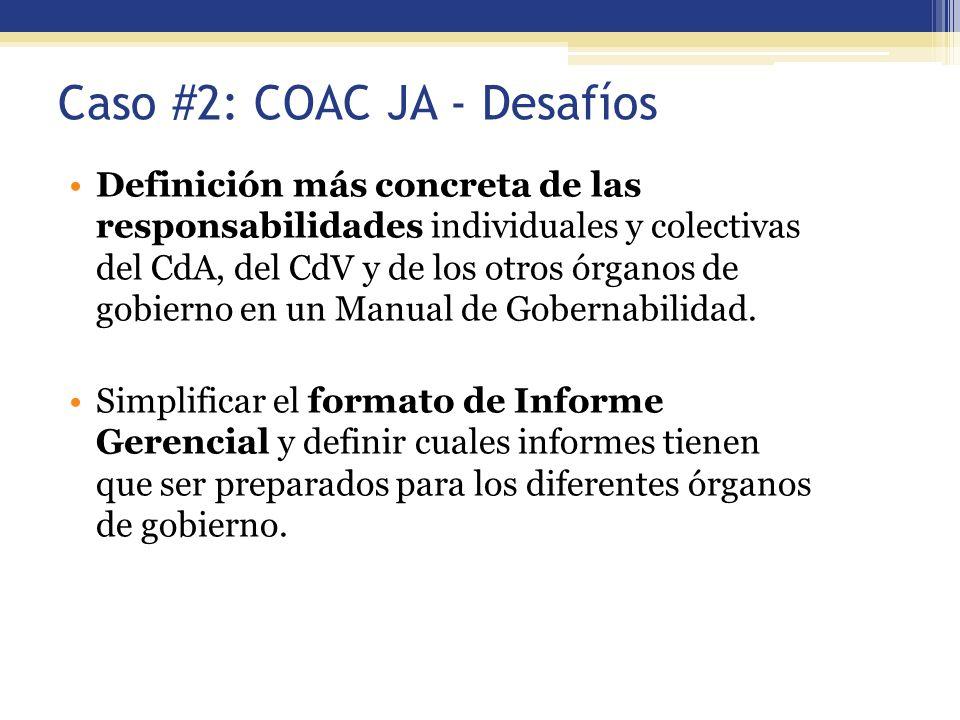 Caso #2: COAC JA - Desafíos
