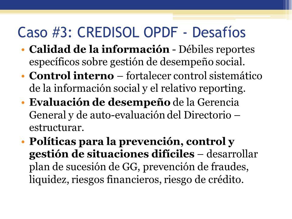 Caso #3: CREDISOL OPDF - Desafíos