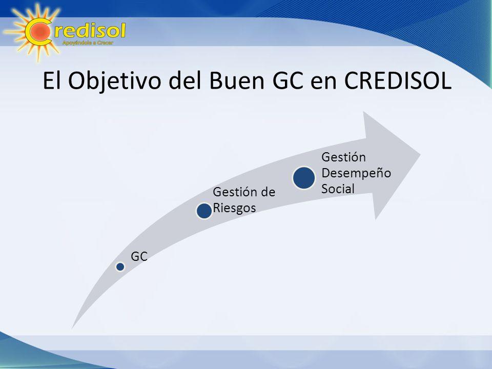 El Objetivo del Buen GC en CREDISOL