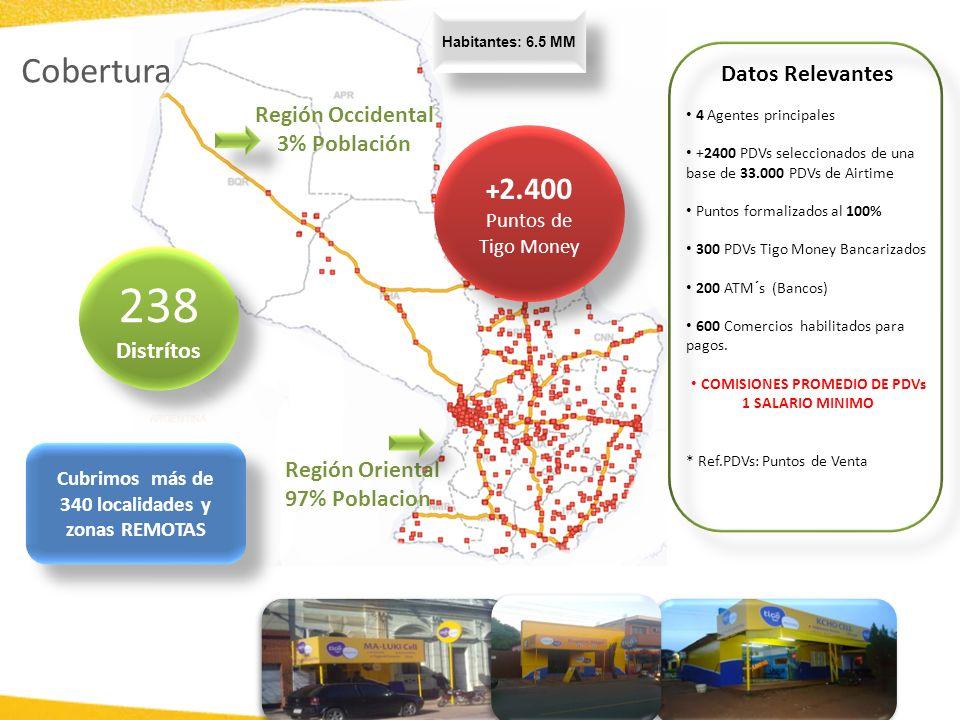 Cubrimos más de 340 localidades y zonas REMOTAS