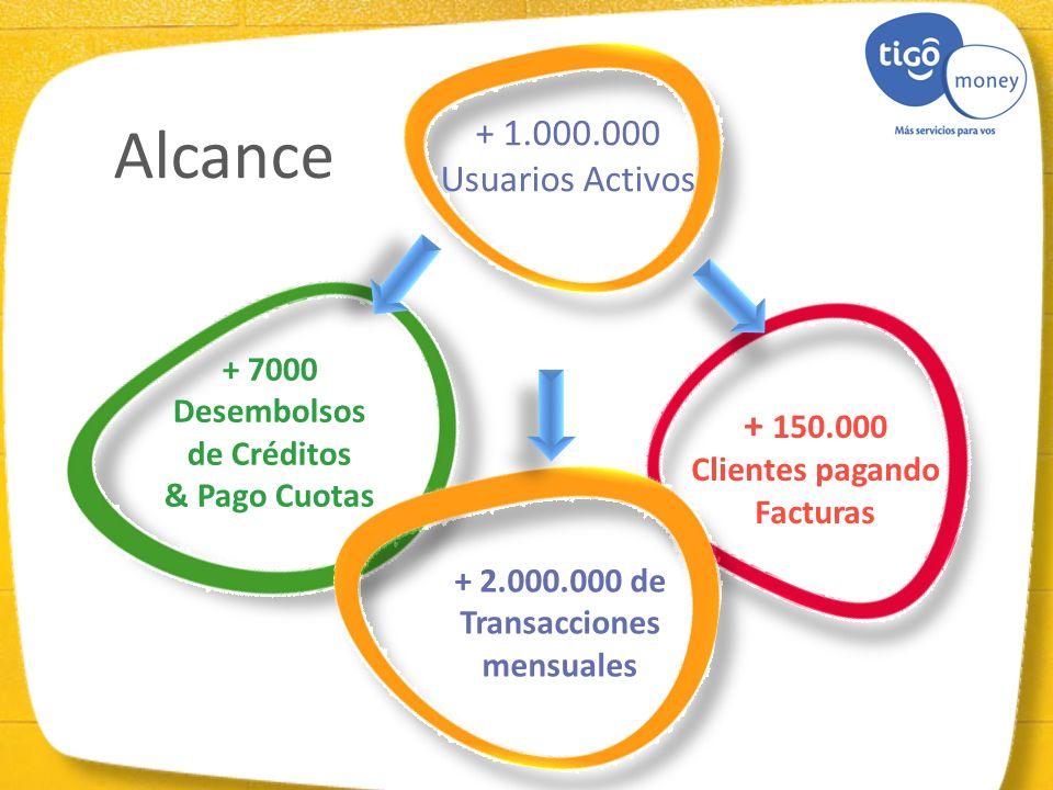 Clientes pagando Facturas Transacciones mensuales