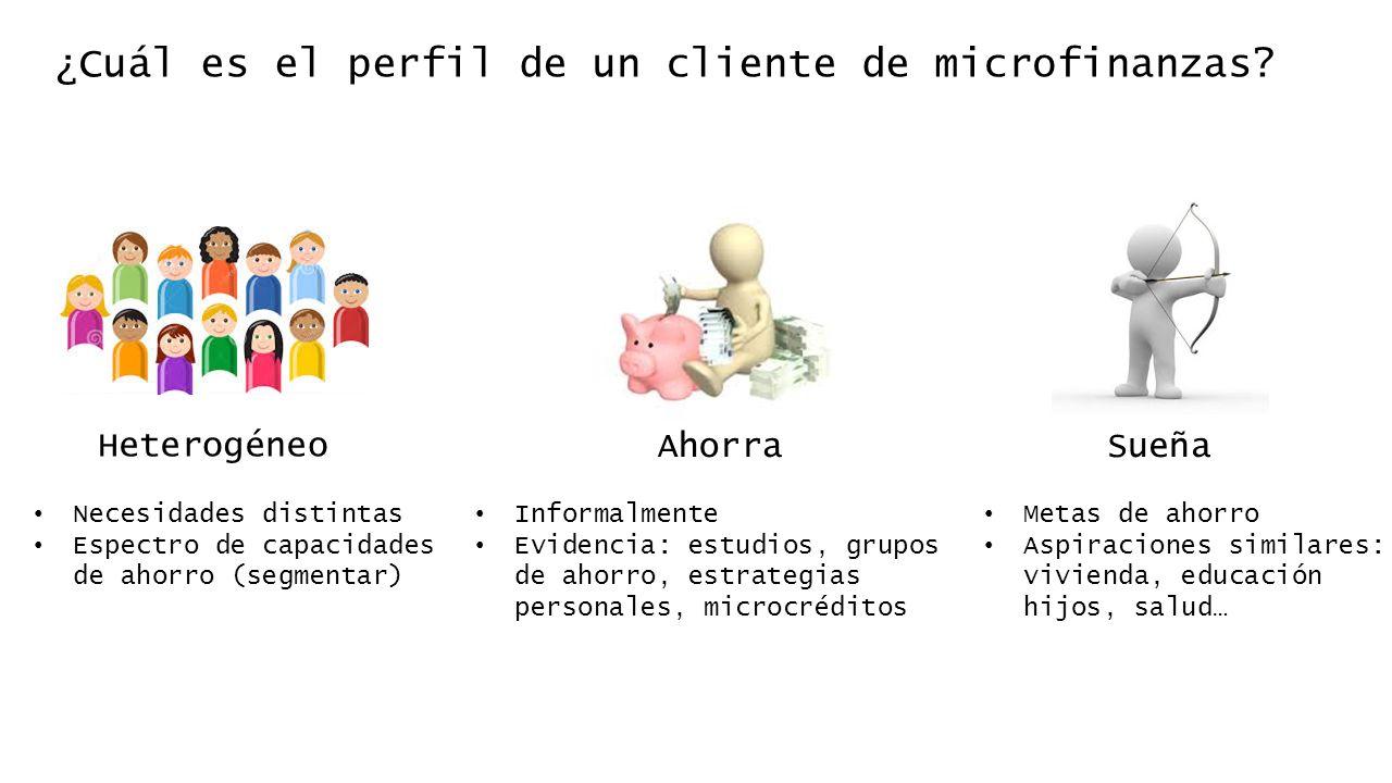 ¿Cuál es el perfil de un cliente de microfinanzas