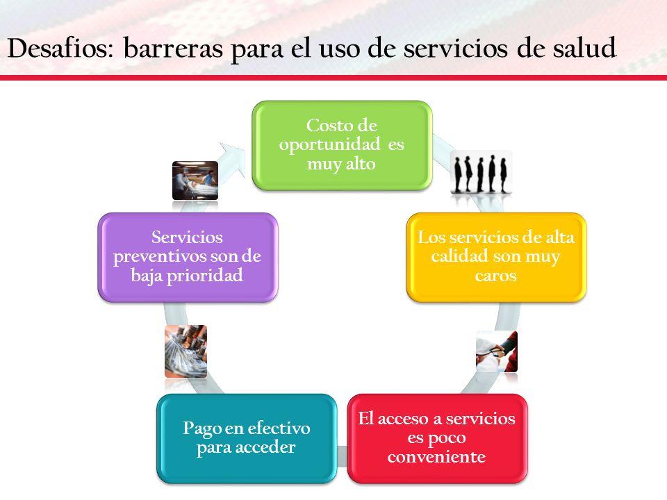 Desafios: barreras para el uso de servicios de salud