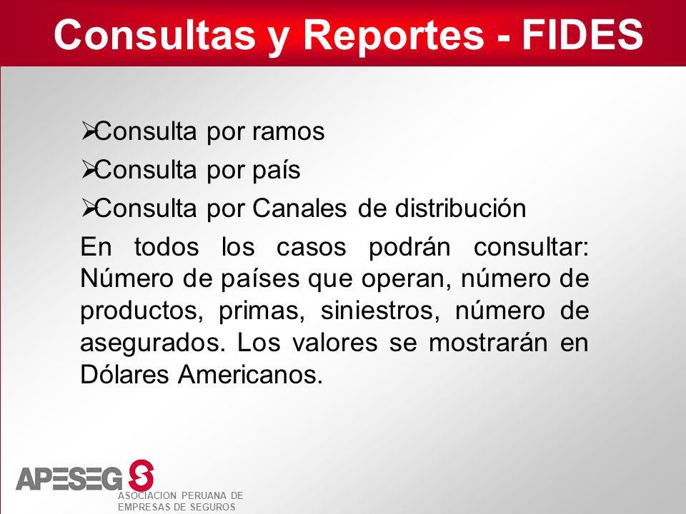Consultas y Reportes - FIDES