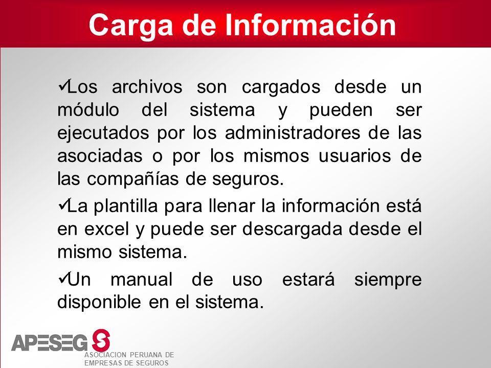 Carga de Información