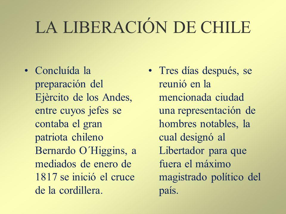 LA LIBERACIÓN DE CHILE