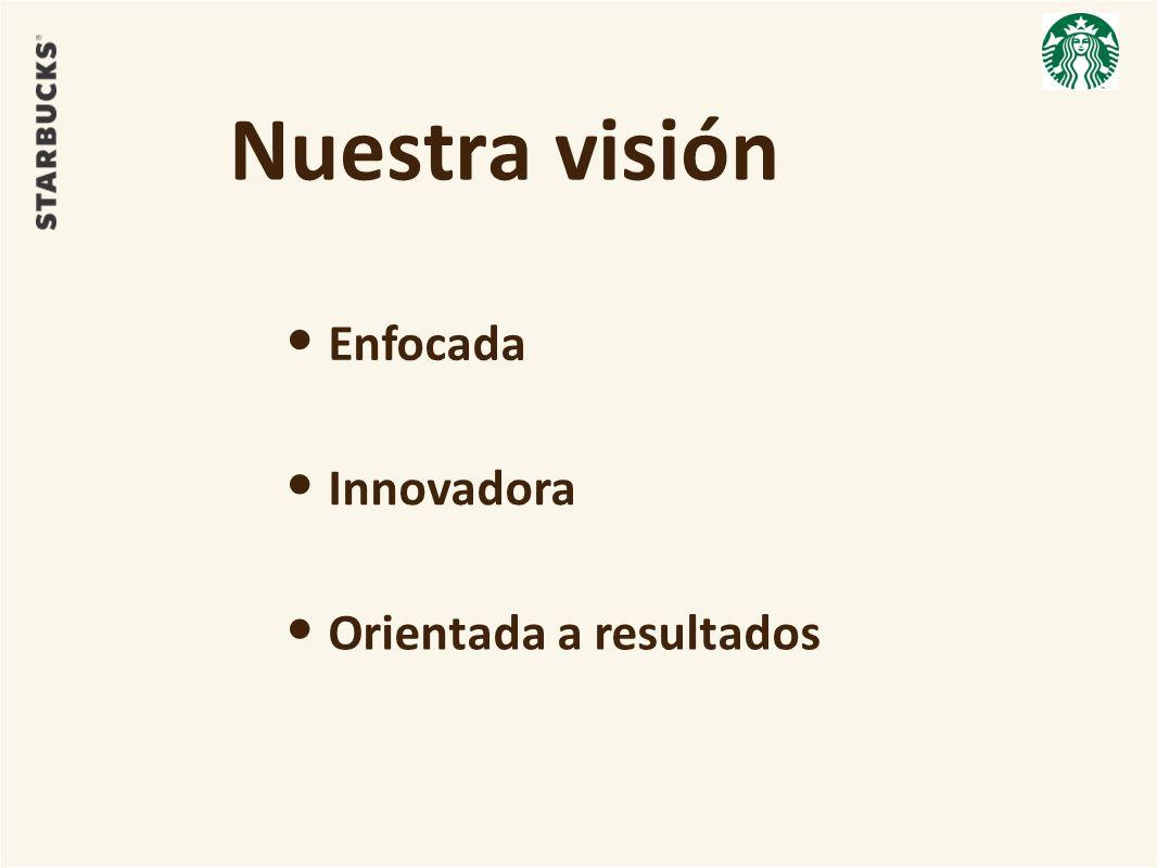 Nuestra visión Enfocada Innovadora Orientada a resultados